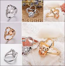 s day rings si s day gift swiss cz fashionable heart 18k gold