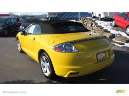 mitsubishi eclipse yellow 2009 solar satin yellow mitsubishi eclipse spyder gs 26125730