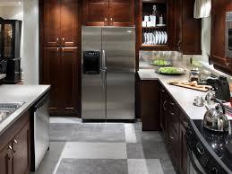 kitchen dark brown wood kitchen cabinets with g shape kitchen