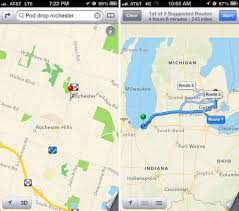 Routing Maps by Ios 6 Maps Vs Ios 5 Maps Vs Maps Google Com Location Data