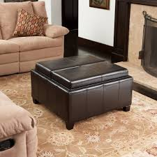 Square Leather Ottoman With Storage Coffee Table Upholstered Ottoman Storage Ottoman Leather Coffee