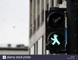 pedestrian traffic lights in berlin with the traditional