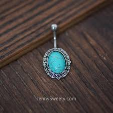 turquoise belly ring belly button piercing navel piercing
