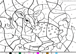 coloring glamorous dog color number deer coloring
