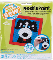 quincrafts learn to sew needlepoint kit joann