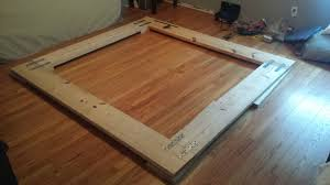 easy to build low budget and sturdy platform bed with hairpin