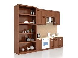 Straight Line Kitchen Designs Straight Modular Kitchen 3d Model 3ds Max Files Free Download