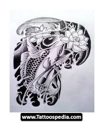 mermaid and koi fish tattoo design
