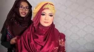 tutorial hijab syar i untuk pengantin tutorial hijab syar i untuk wisuda youtube