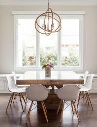 Glass Wood Dining Room Table Square Dining Table With Rope Chandelier Contemporary Dining Room