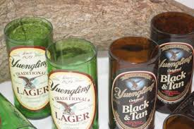 unique barware glasses from recycled yuengling bottles 8 oz