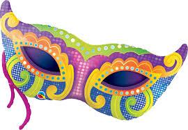 mardi gras mask 38 shape foil mardi gras mask 46060 each pkgd