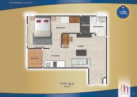 36 sqm unit plan type arcadia beach continental condominium pattaya