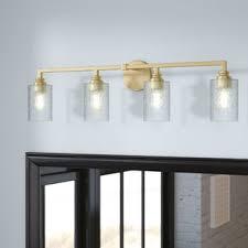 gold bathroom vanity lighting you u0027ll love wayfair