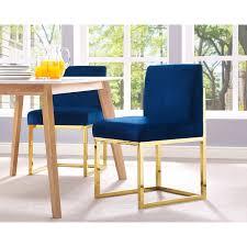 Dining Chair Deals Haute Navy Velvet Chair Overstock Shopping The Best Deals