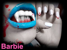 vampire nails nail design of spooky horror vampire fangs with