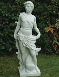 enigma with marble statue garden sculpture ornament for