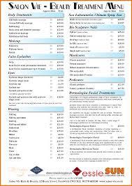Hair Salon Price List Template Free Free Samples Templates Part 5