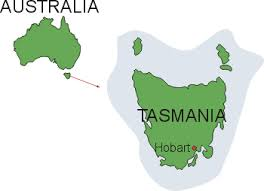 map of tasmania australia the learning zone extinct endangered