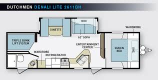 triple bunk travel trailer floor plans big family fun www trailerlife com