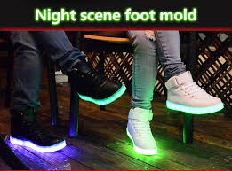 ladies light up shoes 2016 men lights up led luminous shoes high top glowing casual shoes