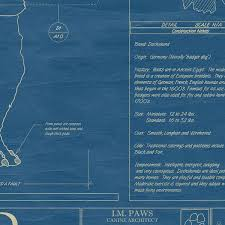dog blueprints framed wall art breeds uncommongoods dog blueprints thumbnail