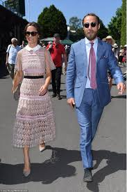 pippa middleton and brother james attend wimbledon daily mail online