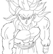 dragon ball gt coloring sheets pages goku vegeta free printable