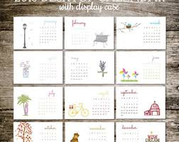 Flat Desk Calendar Office Calendar Etsy