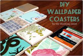 Drink Coasters by Drink Rings Begone U2013 Diy Wallpaper Coasters U2014 The Thinking Closet