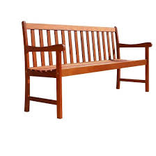 vifah slat back outdoor wood bench brown target