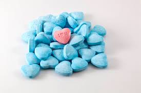 s day candy hearts s day candy hearts blue and pink stock photo image