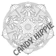 creepy coloring pages miss victoria voodoo halloween mandala candyhippie coloring pages