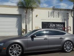 metallic wraps 2014 audi a7 vinyl wrapped with a matte charcoal metallic from