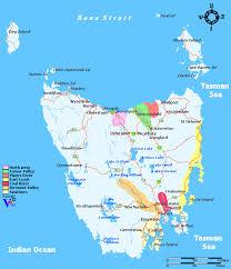 map of tasmania australia tasmania wine regions