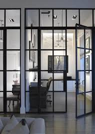interior french glass doors consider glass wall doors rather than wall partitions on grd floor