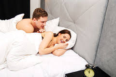 Lovely Couple In Bed Lying In Bedroom Handsome Lovely Young Couple In The Bed Stock Photo Image 94544780