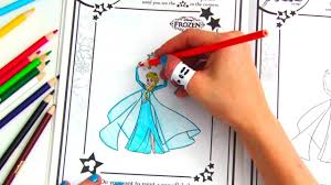 disney frozen color u0026 play coloring book youtube