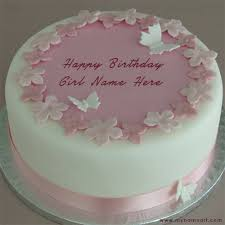 write name on butterfly design birthday cake pictures