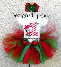 my christmas baby girl baby minnie mouse christmas tutu set stripes