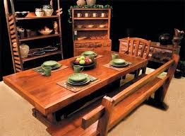 Country Style Dining Room Table Country Western Themes Home Decor Furnishings Furniture
