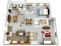 Low Cost Housing Floor Plans by 3d Floor Plans 3d Plans 3d House Floor Plans