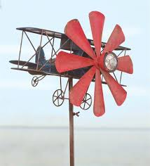 wind weather biplane with solar light wind spinner reviews