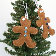 felt gingerbread ornaments for to make