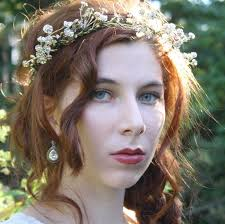 hippie flower headbands gold flower crown floral crown rustic bridal tiara boho hippie