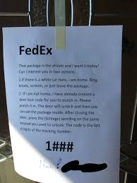 fedex left it right inside the door also lifehack pics