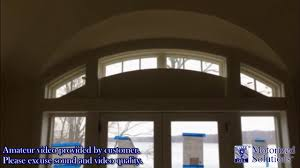 customer video series bottom up arched roller shade music