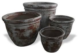 outdoor ceramic planters rustic u0026 atlantic