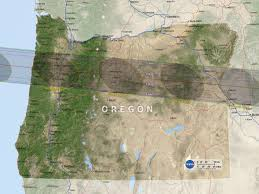 map of oregon showing madras nasa s eclipse path map bent