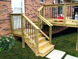back deck stairs medium size of deck steps design backyard wood
